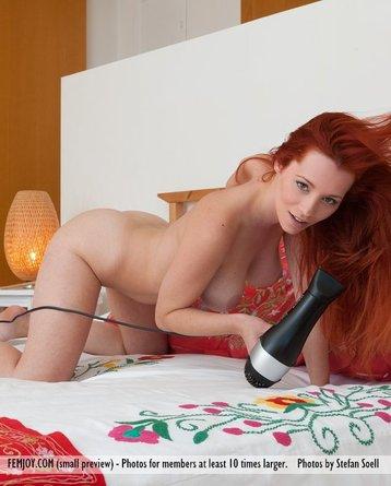 Ariel on bed Redhead