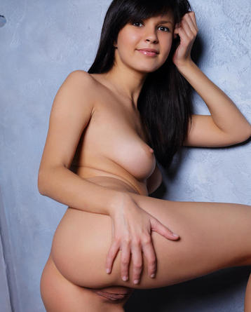 Raven Black Haired Teen Posing For Us