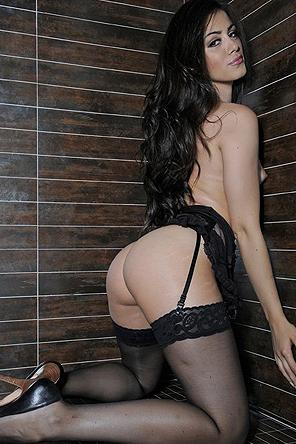Natalia Phillips Posing In Stockings